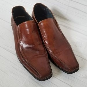 Steve Madden Tan Notise Slip On Loafer, Size 9